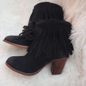 FRYE IIana fringe western ankle western boots